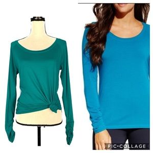 Calia Carrie Underwood Blue Essential Ruched Tee